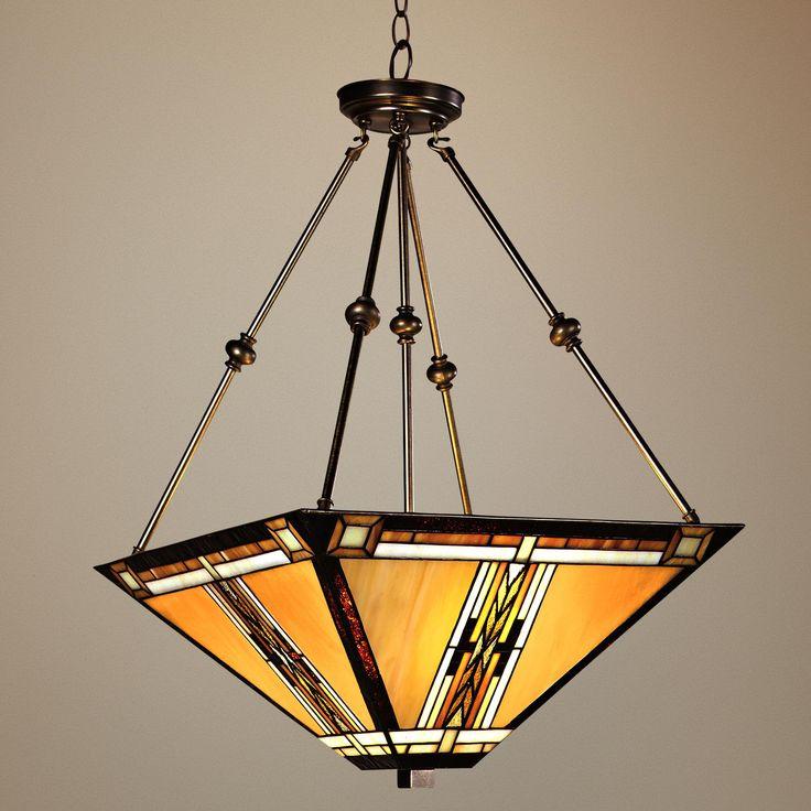 walnut mission style pendant chandelier