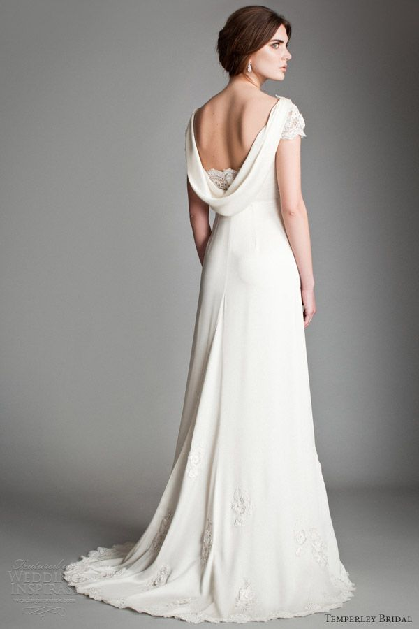 Pin by al aroussa on vintage bridal pinterest for Cowl neck wedding dress pattern