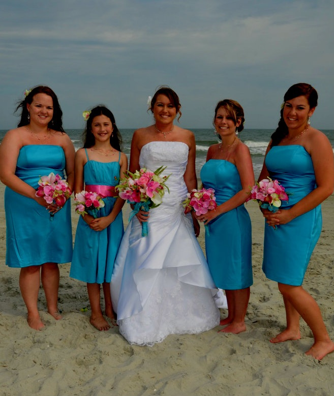 Bridesmaids Dresses in Malibu by Davids Bridal
