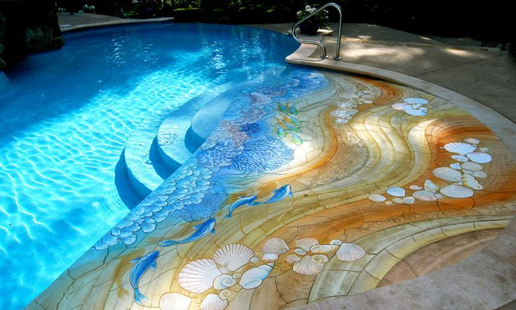 Swimming pool mosaic building ideas pinterest for Pool mosaic designs