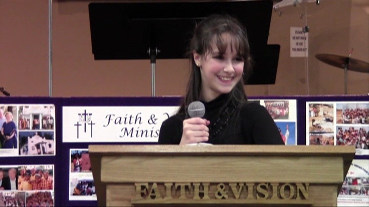 "9 year old Michelle Cook's sermon:  ""How big is your God?""  (The wisdom of a child!)"
