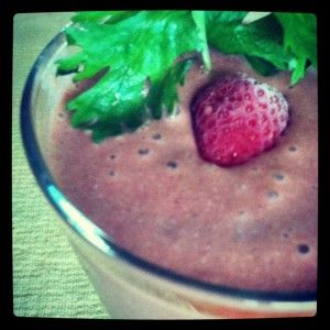 Cilantro Coconut Smoothie - fresh strawberries, cashew butter ...