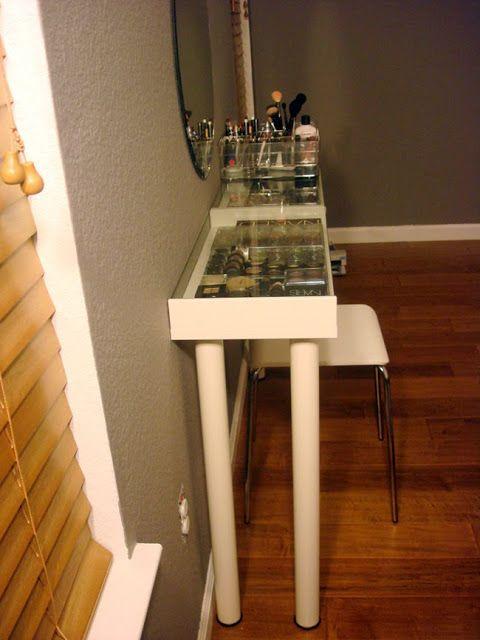 Tinted Glass Cabinet Doors Ikea ~ IKEA Hackers Materials Ekby Gruvan shelf; Vika Curry legs; Godmorgon