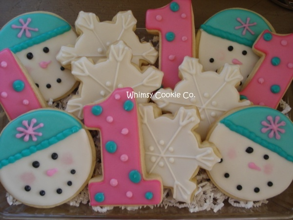 Winter onederland i love the snowman faces out of round cookies