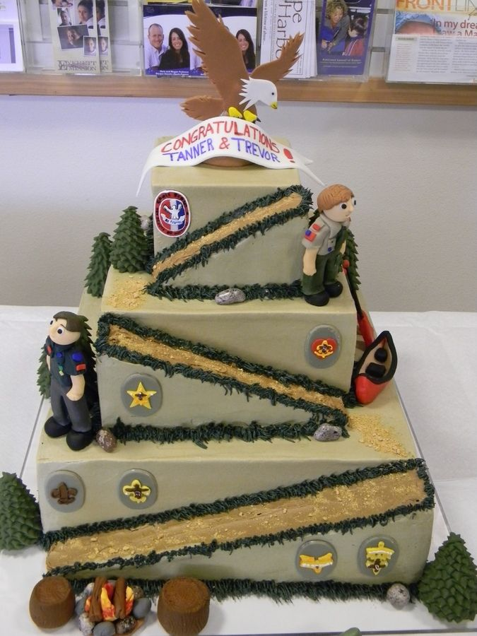 Eagle Scout Cake   Other Cakes Cake Ideas Pinterest