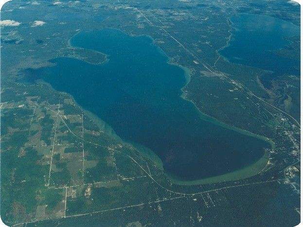 Aerial view of burt lake burt lake pinterest for Mullett lake fishing