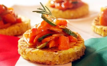 Polenta And Vegetable Stacks | Viva Vegetables | Pinterest