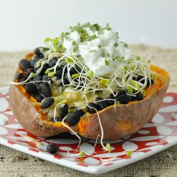 Savory Stuffed Sweet Potatoes - quick, healthy, and absolutely ...