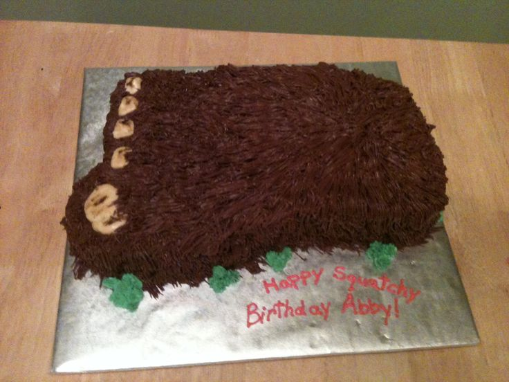 Bigfoot Cake Cute ideas Pinterest