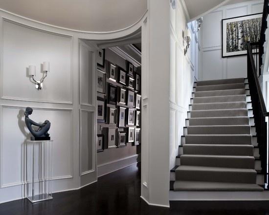 Best Grey Stair Runner Black White Steps For The 640 x 480