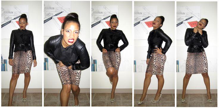 BCBG leather jacket & leopard skirt   Fall fashion 2012   Pinterest