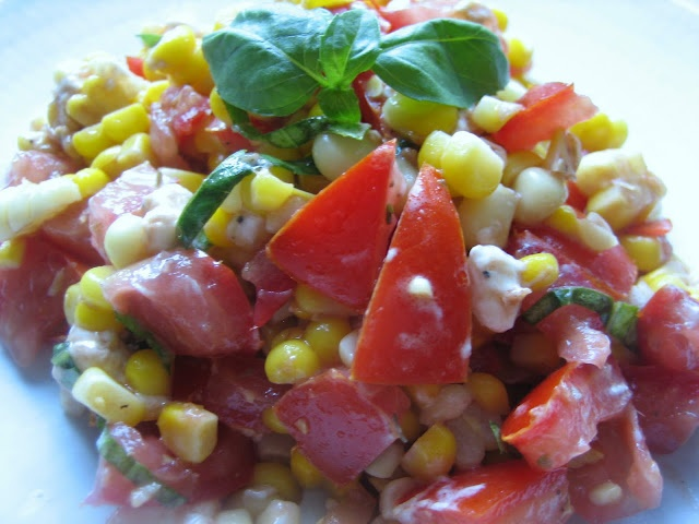 Herbed Sweet Corn and Tomato Salad | Yummy! | Pinterest