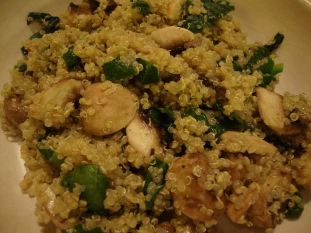 KR Success Quinoa with Mushrooms and Spinach (use vegetable soup ...