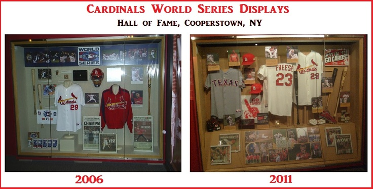 Picture of the 2006 and 2011 hall of fame displays side-by-side.  So glad I've been able to see both in person!