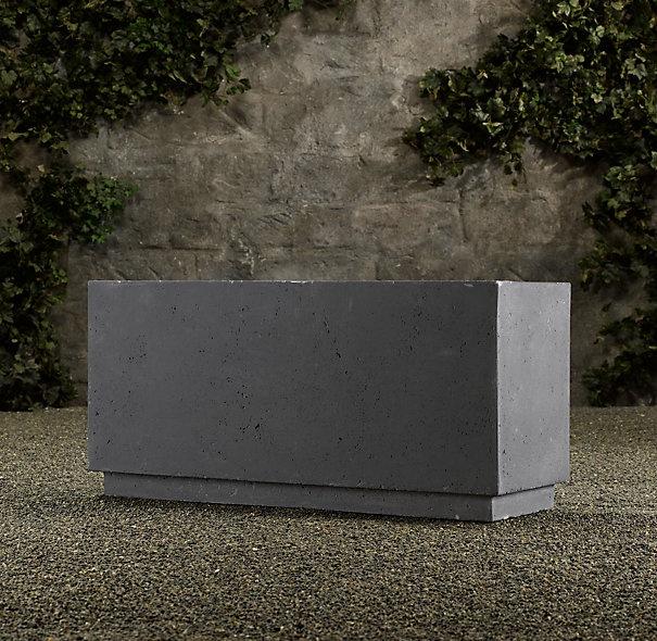 Concrete Box Planter Garden Ideas Pinterest