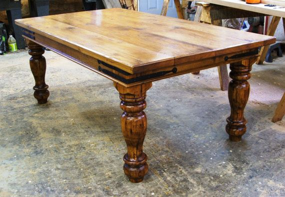 Reclaimed barnwood farmhouse table
