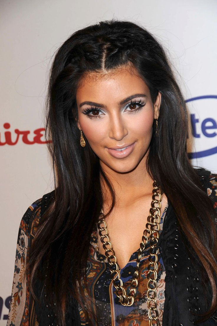 Hair front pulled back kim kardashian looks hair front pulled b