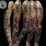 Https www facebook com silesanda greek gods tattoo sleeve 8531 santa