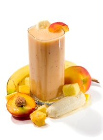 Banana Peach Smoothie Serves 2 Ingredients: 10 ounces of organic ...