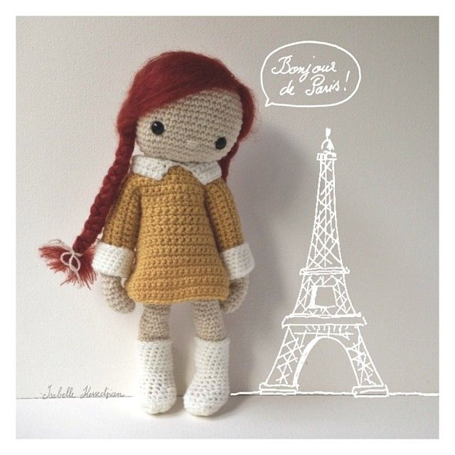 Amigurumi Doll Making : Isabelle Kessedjian crochet doll cuty Pinterest