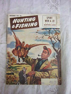 Vintage hunting and fishing magazine november 1952 pheasant for Hunting and fishing magazine