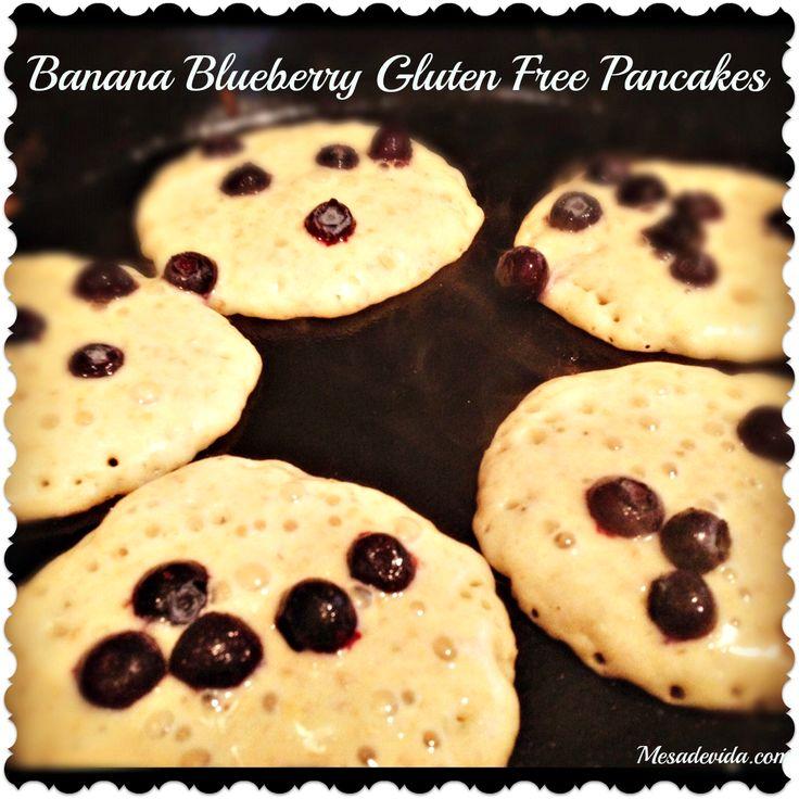 Gluten Free Banana Blueberry Oat Pancakes - made from leftover steel ...