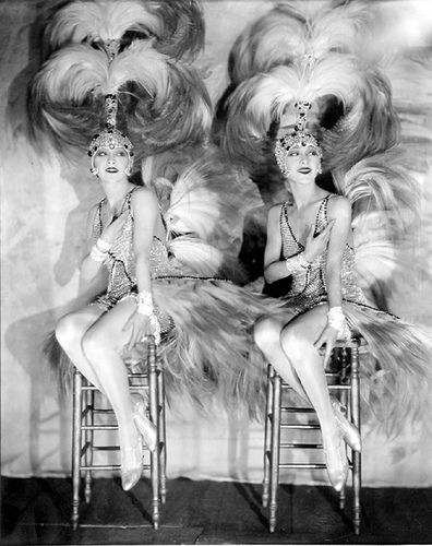 Dolly Sisters ~ twins Rosika (Rose) and Jansci (Jenny) Born in Hungary, October 25, 1892. http://en.wikipedia.org/wiki/Dolly_Sisters