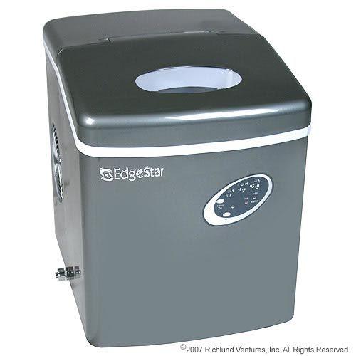 Countertop Ice Maker Crushed : EdgeStar Titanium Portable Ice Maker Model:IP210TI