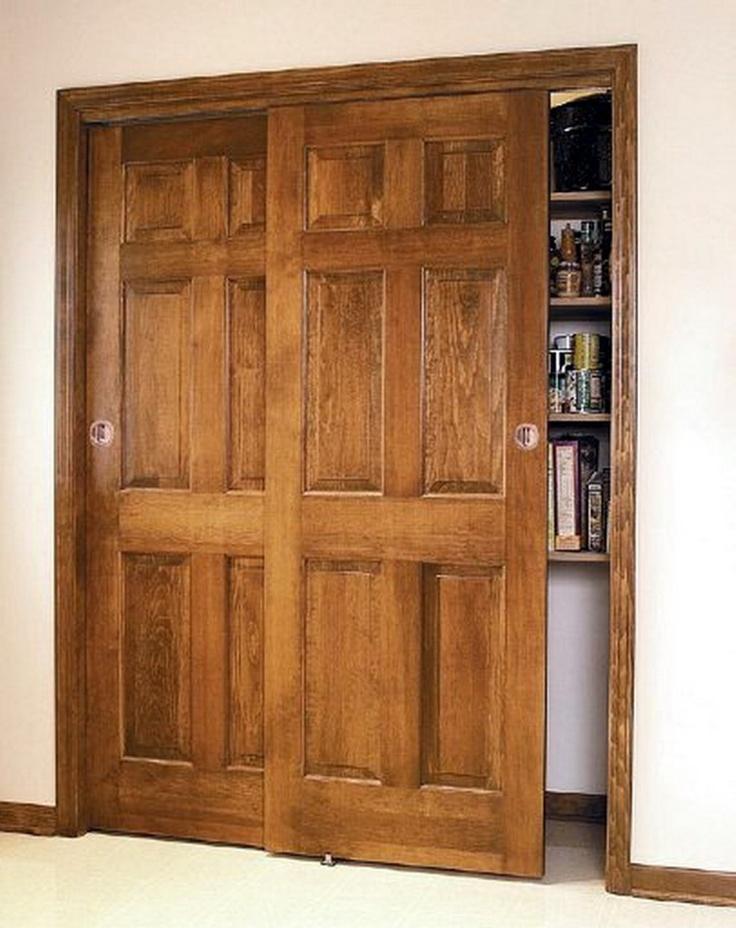 Wood bypass doors dream master bath pinterest for Wood bypass closet doors