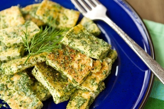 easy lemon tahini dill tofu. delicious! http://bit.ly/IbQDnU