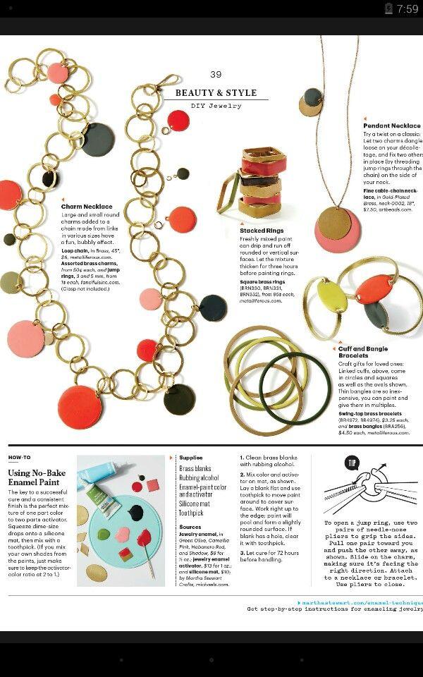 diy enamel jewelry crafts to make pinterest