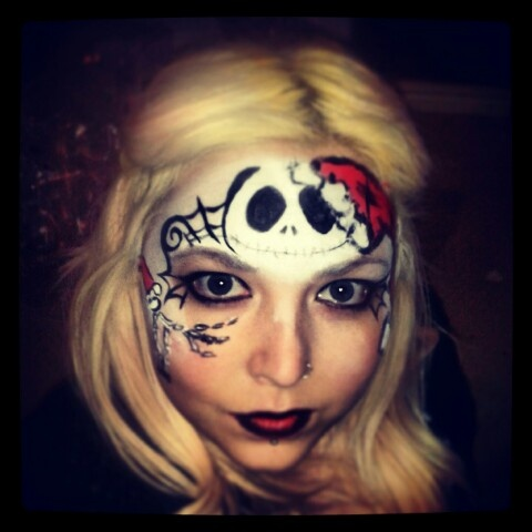 nightmare before christmas facepaint | Face Painting Designs | Pinter ...