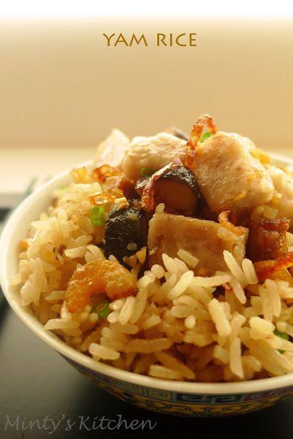 Minty's Kitchen: Yam Rice (芋头饭) | Food Recipes | Pinterest