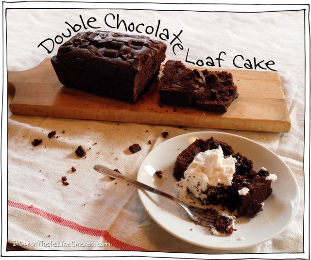 Double-Chocolate-Loaf-Cake | food and drink | Pinterest