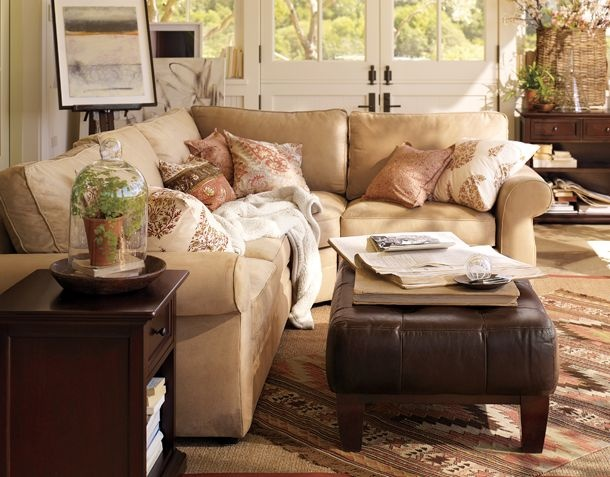 Pottery Barn Living Room Inspiration Living Spaces Pinterest