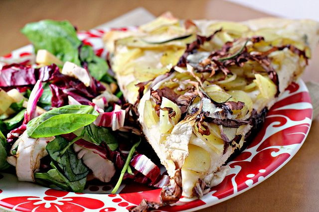 Smoked Mozzarella Pizza With Radicchio And Onion Jam Recipes ...