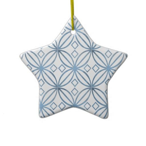 Art Deco Stylized Flower Design Christmas Tree Ornament