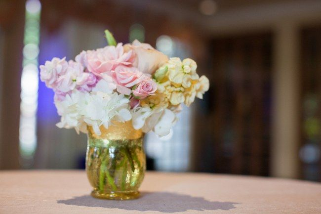 Reception And Table Decor Elegant Blush And Gold Summer Wedding