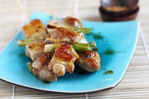 Yakitori (Japanese Grilled Skewered Chicken)