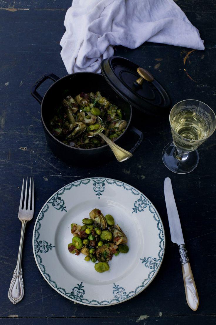 La Vignarola (Spring Vegetable stew) Via Mimi Thorisson