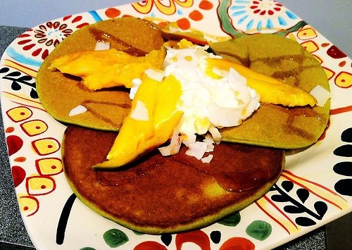 ... matcha green tea coconut pancakes recipe dishmaps matcha green tea