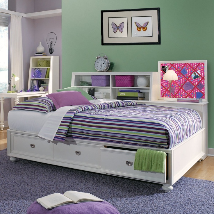 Elite zoe storage platform daybed girly bedrooms pinterest Daybeds with storage