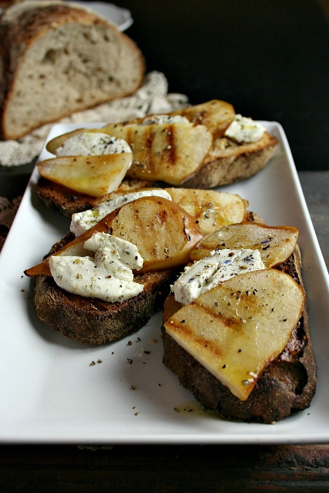 Pear, Raspberry And Goat Cheese Crostini Recipes — Dishmaps
