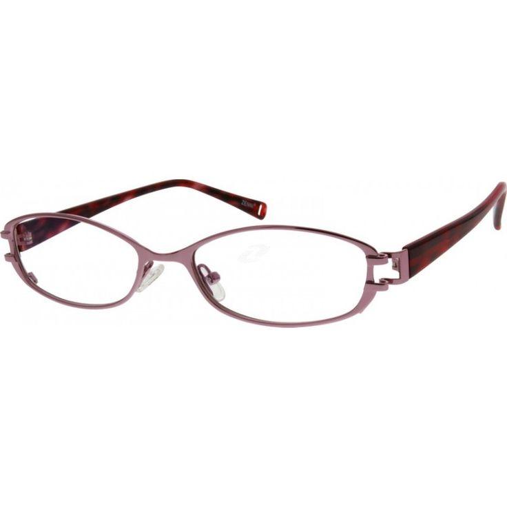 pink glasses on zenni optical my style