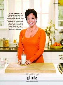 Milk Mustache Monday model, RD & @Foodnetwork star @Ellie_ Krieger