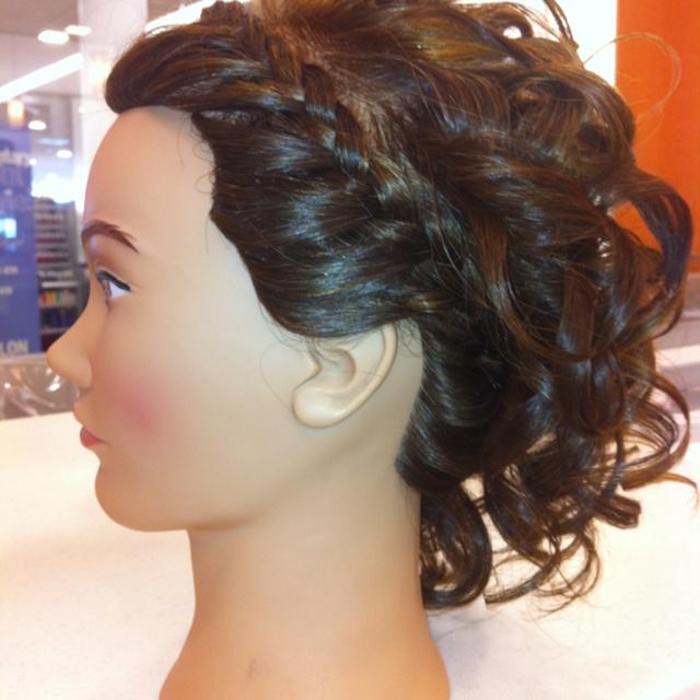 headband braid with curls - photo #10