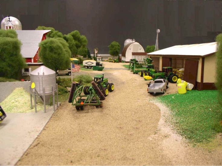 1 64 scale farm toy displays pictures to pin on pinterest for 1 64 farm layouts