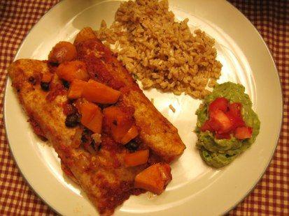 Black Bean & Sweet Potato Enchiladas | (mostly) Healthy Eating | Pint ...