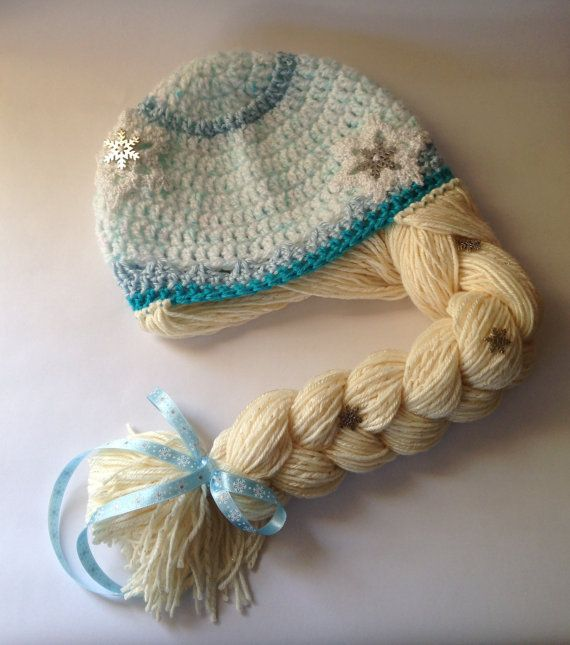 Crochet Elsa Hair Hat : Princess Elsa Hat Inspired by Elsa from by WillowHillKidsToo, $25.00