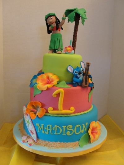 Lilo & Stitch Luau Cake By norfred on CakeCentral.com